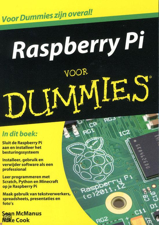 """Boek """"Raspberry voor Dummies"""" in het Nederlands"""